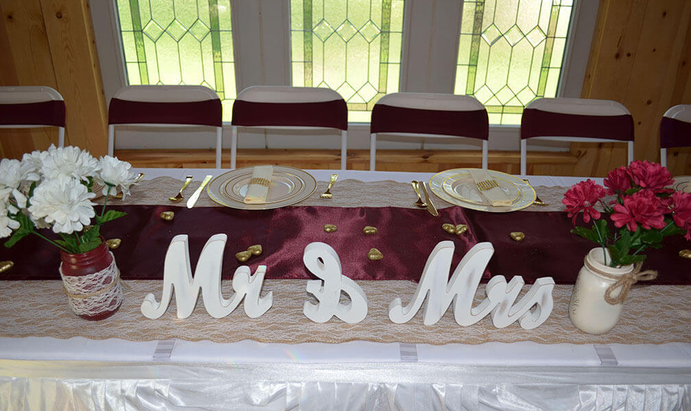 Couple Wedding Decors